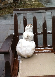 Cousin J's little snowman.